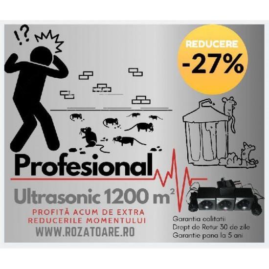 Aparat Industrial Anti Soareci si Sobolani Ultrasonic 1200 m²a